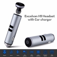 Auriculare Mini bluetooth Headset with Car Charger Wireless Earphone Micro Earpiece Handsfree in ear headphone For Driver(China)
