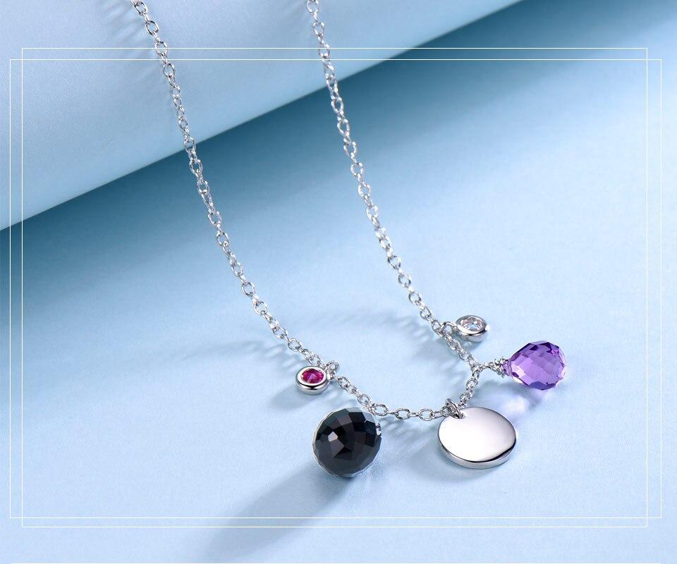 silver amethyst flower necklace for women (3)