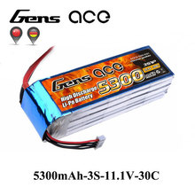 Buy Gens ace Lipo Battery 3S 5300mAh Lipo 11.1V Battery Pack XT60 T Plug Spartan Helicopter Airplane RC Car Boat RC Accessories for $45.39 in AliExpress store