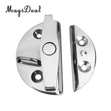 MagiDeal 316 Stainless Steel 55mm Twist Lock Round Marine Boat Door Catch Latch for Marine Canoe Kayak Inflatable Fishing Boat(China)