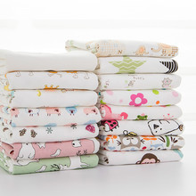Buulqo New Baby cotton knitted fabric stretchy Printed  knitted jersey fabric by half meter DIY baby clothing fabric 50x170cm