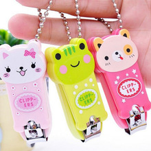 Random Color!! New Lovely Cartoon Lollipop Frog Cat Image Nail Scissors Nail Clippers Nail Clippers Manicure Nail Care Tools(China)
