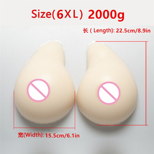 Buy White Crossdressing Silicone Breast Form 2000g/Pair Drag Queen Breast Fake Boobs Shemale Transvestite False Boobs Prosthesis