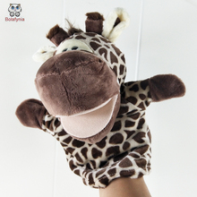 BOLAFYNIA Children Hand Puppet Toys kid baby plush Stuffed Toy giraffe animal for Christmas birthday gifts