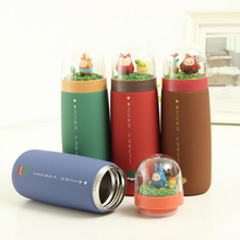 4 colors Creative cute Sweet gift cup children water bottle stainless steel thermos cup Termos Vacuum Flasks mug milk coffee