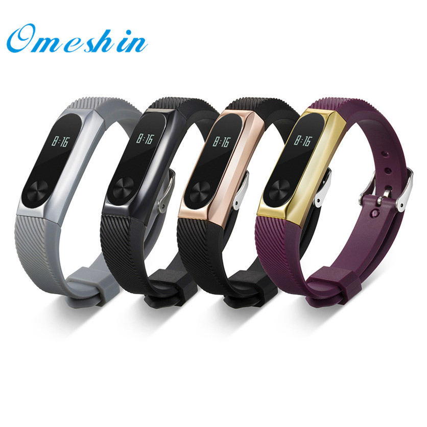 OMESHIN Simplestone Replacement Wristband Band Strap + Metal Case Cover Xiaomi Mi Band 2 Bracelet Dec6