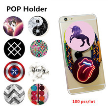 100 pcs/lot POP Mobile Cell Phone Holder Expanding Stand Car Grip Socke Mount For iPhone Samsung Smartphones Tablets Universal