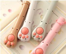 Massager Hammer with Flashlight-Multifunctional Hand Held Cute Cat's paw pattern Massager Hammer with Flashlight, 1Pc