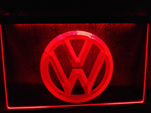 LG145- Volkswagen VW Car Logo Services LED Neon Light Sign home decor crafts(China)