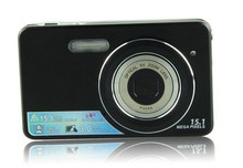 New cheap Touch Camera 3.0 Inch Touch LCD Screen 720P 15MP Digital camera 5x Optical Zoom Video camcorder(China)