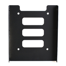 New Black 2.5 inch SSD HDD To 3.5 inch Metal Mounting Adapter Bracket Dock for PC SSD XXM(China (Mainland))