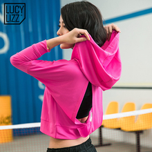 Women Hooded Running Shirts Jersey Breathable Sportswear Fitness Yoga Top Sports Clothing Workout Sports T Shirt Gym Jacket Tops(China)