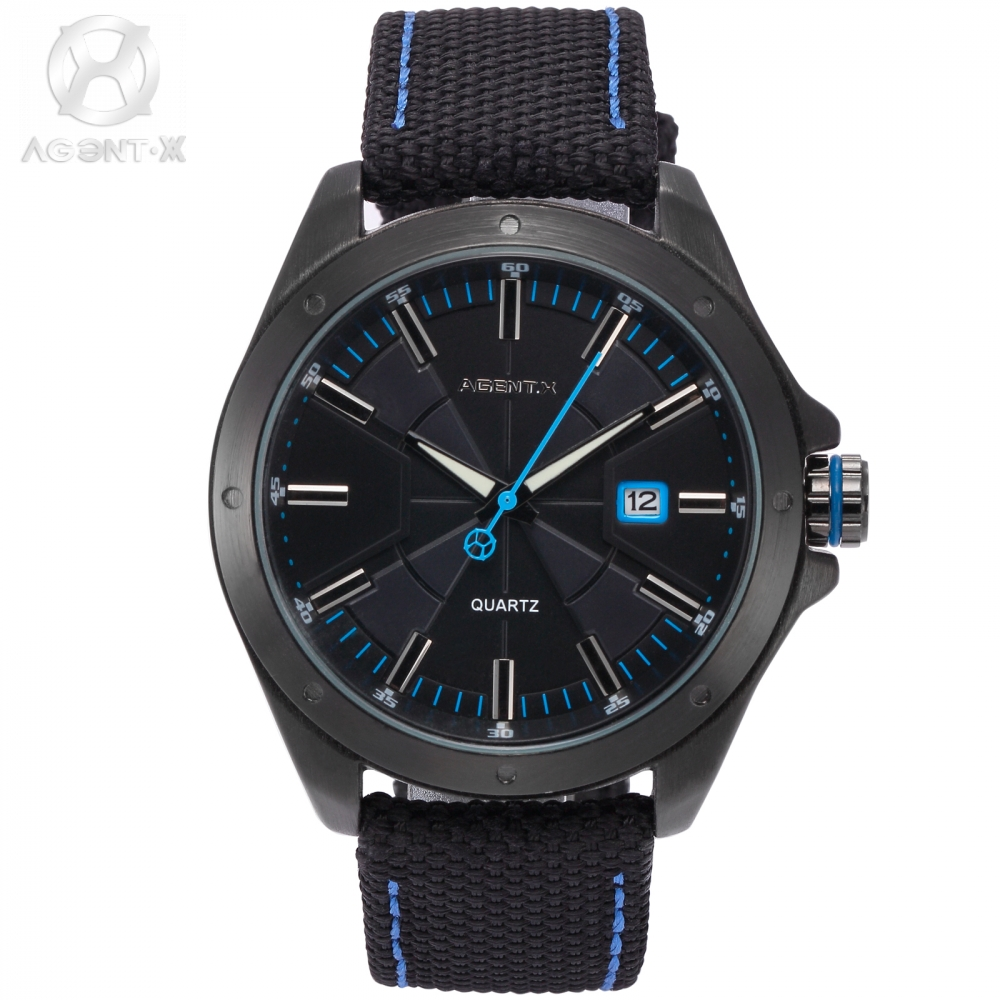 AgentX Quartz Wristwatch Original 2017 New Watch Water Resistant Men Nylon Guarantee card Casual Buckle Movement Gift Box/AGX150<br>