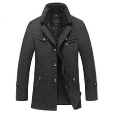 Winter Jacket Men Wool Slim Fit Jackets Fashion Outerwear Warm Coat Men's Casual Overcoat Pea Coat Plus Size XXXL 4XL Jackets