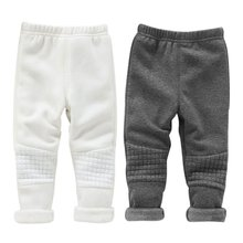 Winter Warm Baby Kid Girls Leggings Pants Basic Elastic Waist Thick Skinny Trousers X16