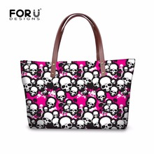 FORUDESIGNS Fashion Women Messenger Bags Cool Skull Pattern Ladies Large Crossbody Bag Casual Beach Shoulder Bags Bolsas Mujer