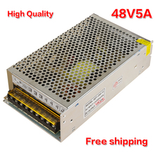 high quality 48V5A 240W  AC110V/220V to  DC 48V240w  LED Switching Power Supply for led light DC48v5A free shipping