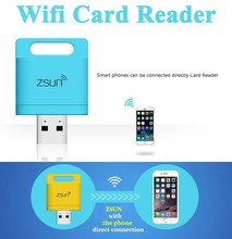 Zsun USB WiFi Card reader TF micro SD Card Reader USB wireless StoragePhone Memory Expand Disk For Windows Android/IOS/ Phone