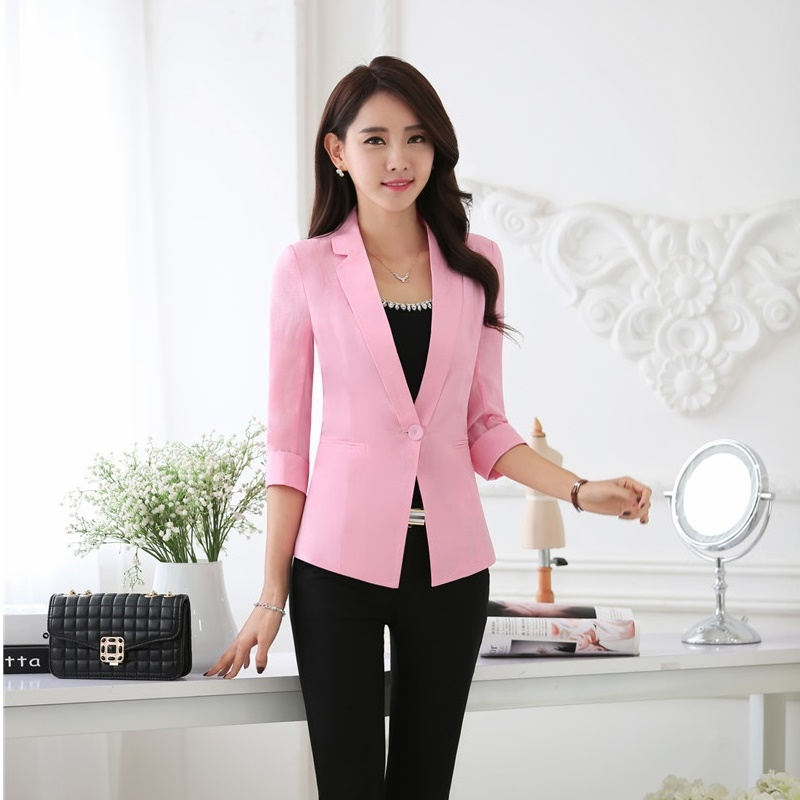 High Quality Pink Womens Blazer Promotion-Shop for High Quality ...