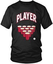 Round Neck Best Selling Male Natural Cotton Shirt Player, Beer Pong Player Men's T-shirt,