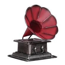 Bar Retro Old Style Home Decor Resin Crafts Phonograph Nostalgic Decoration W3095(China)