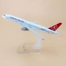 Alloy Metal Air Turkish Airlines B777 Airplane Model Turkish Boeing 777 Airways Plane Model Aircraft Kids Gifts 16cm(China)