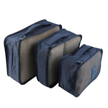 6pcs/Set Quality Waterproof Clothes Storage Bag Portable Packing Cube Business Travel Luggage Storage Organizer High Capacity(China)