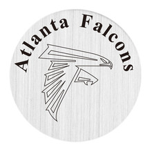 22mm stainless steel american football floating locket charm plate atlanta team falcons backplate