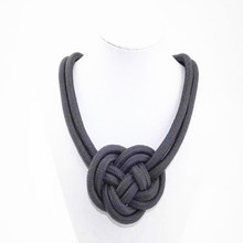Free shipping popular women jewelry Color cotton cord knitting necklace multicolor
