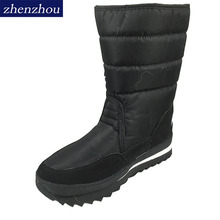 Buy Big size New 2017 women Winter Boots Shoes Snow Shoes Black warm Warm Waterproof Boots Cotton Plus Size Skid thick heel shoes for $19.00 in AliExpress store