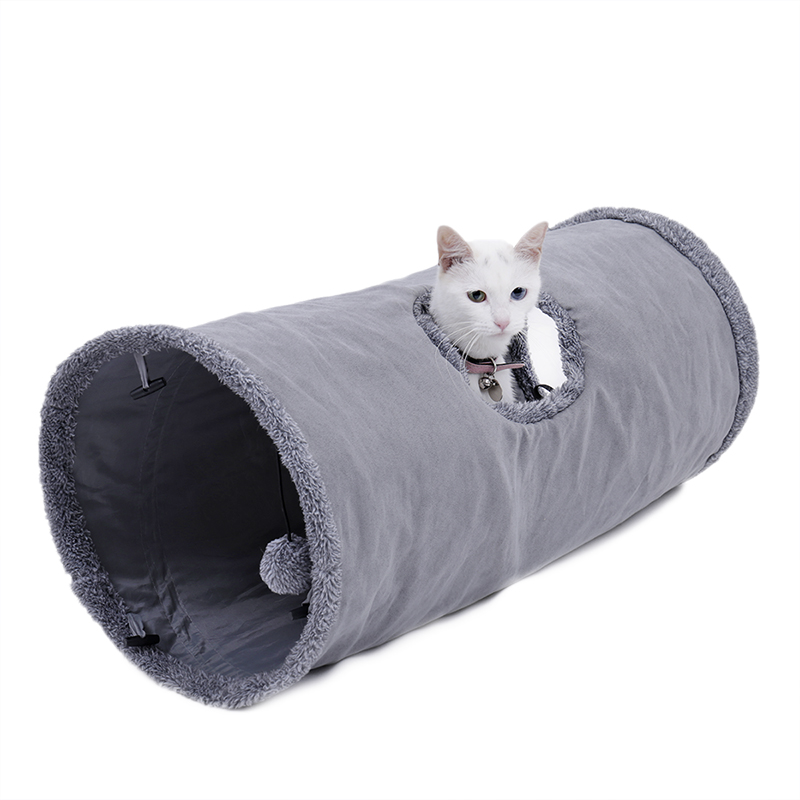 big cat tunnel Big Long Cat Tunnel with Play Ball Suede Material-Free Shipping HTB1tN9iqrsTMeJjy1zeq6AOCVXav
