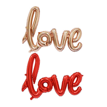 New 1Pc Anniversary Wedding Valentines Decoration Balloon Ligatures LOVE Letter Foil Balloon Party Supplies 4 Colors 2 Sizes