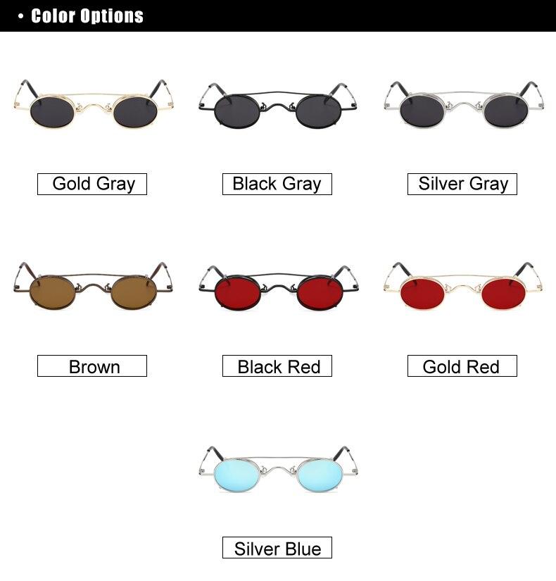 Ralferty Vintage Small Clip On Sunglasses Women Men Retro Mini Steampunk Goggles Punk Sun Glasses UV400 Eyewear Accessories B012 5