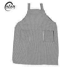 Professional Striated Salon Apron with 2 Pocket Anti-static Adjustable Haircut Hairdressing Cape Hair Styling Tool Kitchen Cloth