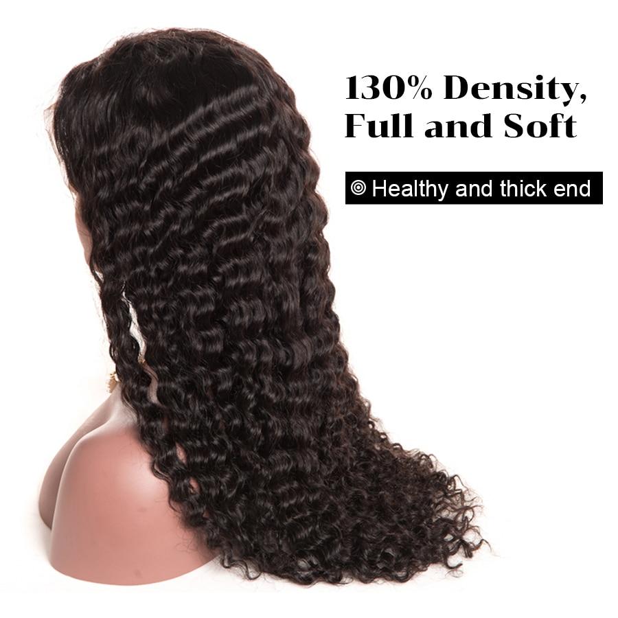 HTB1tNE6QVXXXXaHaXXXq6xXFXXXW - Oxeye girl Lace Front Human Hair Wigs With Baby Hair Deep Wave Brazilian Hair Wigs For Women Natural Black None Remy Lace Wig