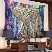 IElephant Tapestry Colored Printed Decorative Mandala Tapestry Indian 130cmx150cm 150cmx210cm Boho Wall Carpet tapestry