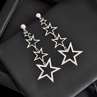 Brand new 1 Pair Lovely Girl Star Dangle Earrings Women Exaggerated Geometric Party Ear Rings Vintage Ear Studs Beautiful