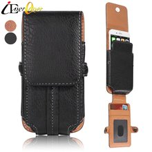 Buy PU Leather Vertical Belt Holster Pouch Case Doogee Mix, Shoot 2, X9 Mini, DG320, Y300, X5 / X5 Pro X5S Waist Bag Cover for $12.98 in AliExpress store