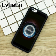 LvheCn TPU Phone Cases For iPhone 6 6S 7 8 Plus X 5 5S 5C SE 4 4S ipod touch 4 5 6 Cover Iron Man Chest Pacemaker Plate(China)