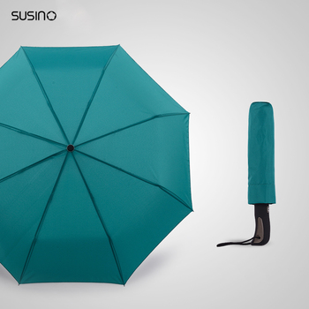 Susino Windproof Umbrellas Fully-automatic Open Sturty Metal Pongee Compact Durability Formosa Cloth Umbrella S3511pm