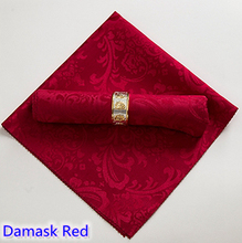 Damask Napkin Red colour jacquard polyester napkin for wedding hotel restaurant table decoration wrinkle stain resistant