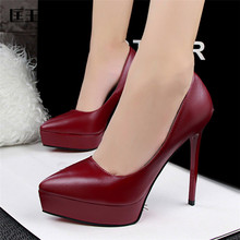 2017 Shoes Woman High Heel Sexy Pumps Platform High Heels Shoes Women Extreme High Heels Bridal Shoes White Wedding Shoes