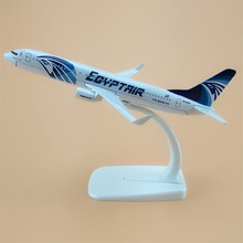 16cm Metal Plane Model EGYPT Air EGYPTAir Airlines B737 300 Boeing 737 Airways Aircraft Airplane Model w Stand(China)