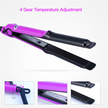 CkeyiN Travel Hair Straightener Flat Iron Wave Hair Roller Magic Curling Iron Temperature Control Straightening Iron Hair Care