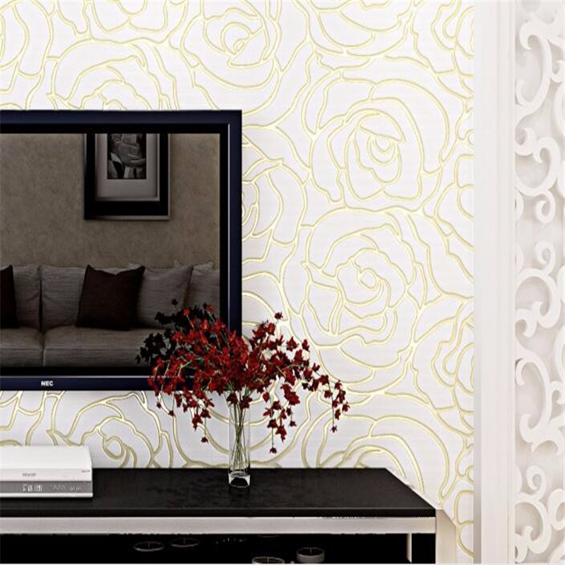 Beibehang European Wallpaper 3D relief embossed mural modern minimalist living room backdrop papel de parede 3d wallpaper photo<br>