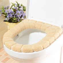 1pc Warm and Comfortable WC Toilet Seat Cover for Bathroom Restroom Products Cotton Pedestal Pan Cushion Pads 7 Color Options