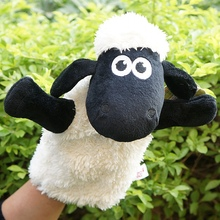 Story toy 1pc 26cm cartoon nici sheep hand puppets plush sleeping pacify educational stuffed baby infant gift