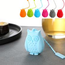 Hot,Owl shap safety silicone tea strainers/filter,infuser,teabags,drinkware,for herbal/flower black/green/Oolong/puer tea(China)