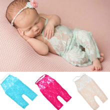 Lace Romper Newborn Photography Props Accessories For Infant Boys Girls Photography Props Clothes Baby Photo Props 6 Colors