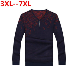 9XL 8XL 7XL 6XL Autumn Winter New Thick Warm Sweater Men Knitted Cashmere Wool Pullover Men Fashion Patchwork V-Neck Pull Homme(China (Mainland))